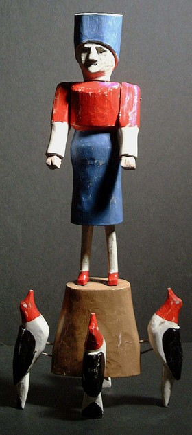 Albert  Zahn, Carving,folk art outsider art