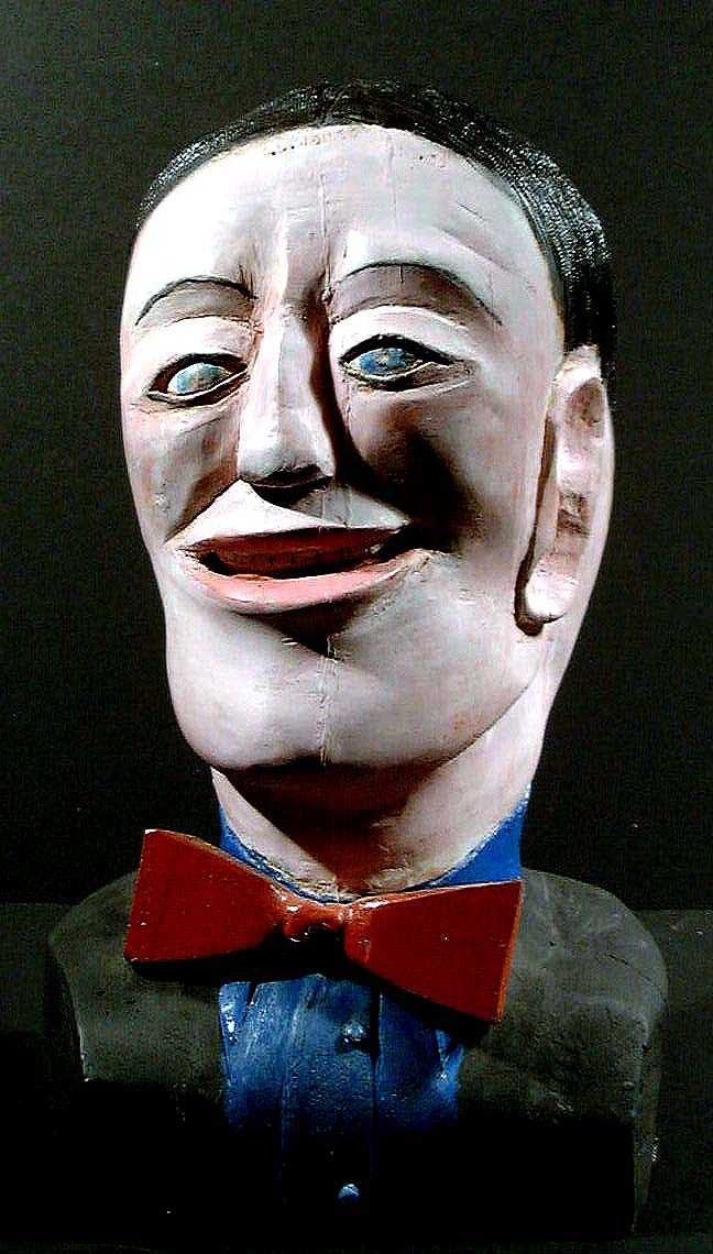 S.L. Jones,Carving Head folk art outsider art