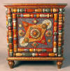End Table, Home Furnishings tramp art furniture folk art hand made furniture art furniture
